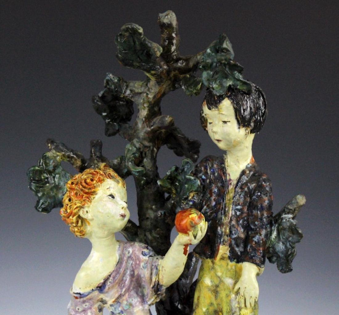 Susi Singer Terracotta Signed Sculpture Adam & Eve - 2