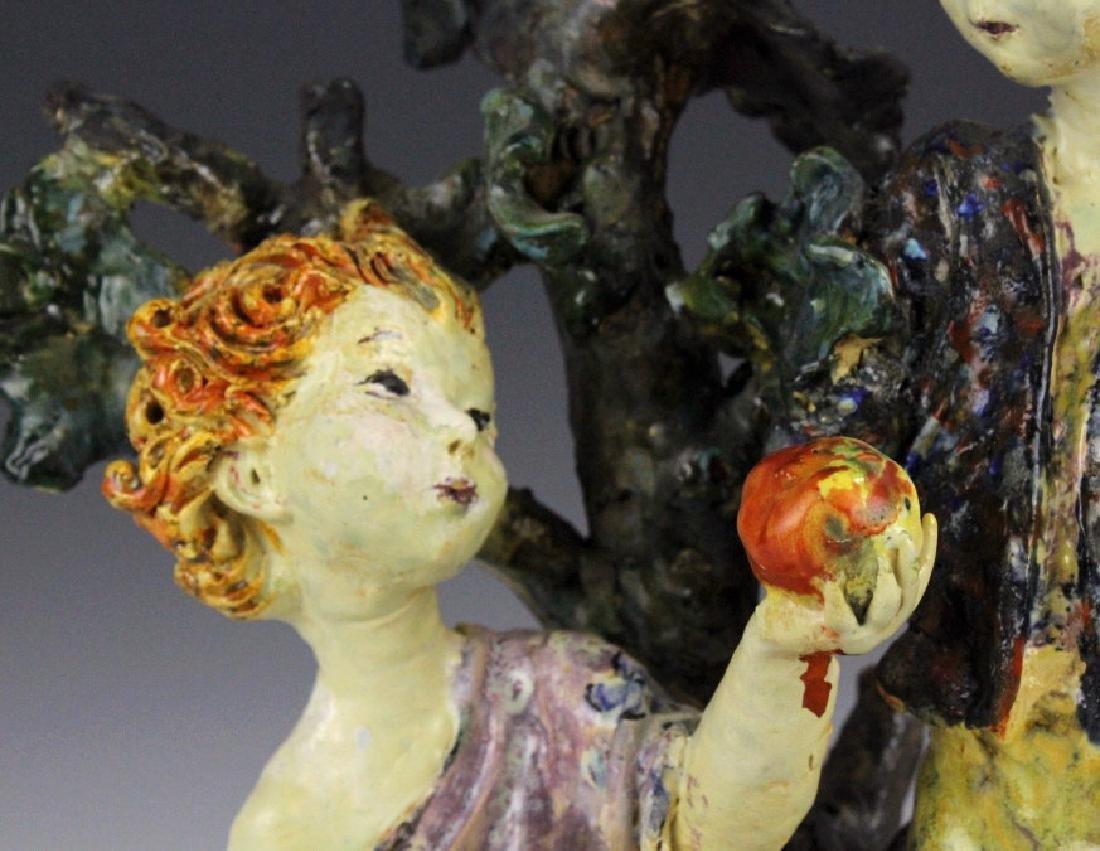 Susi Singer Terracotta Signed Sculpture Adam & Eve - 4