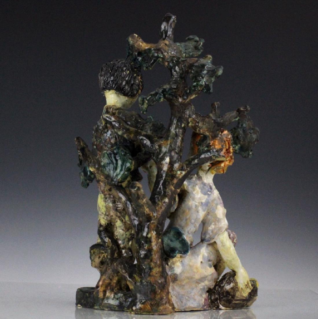 Susi Singer Terracotta Signed Sculpture Adam & Eve - 5