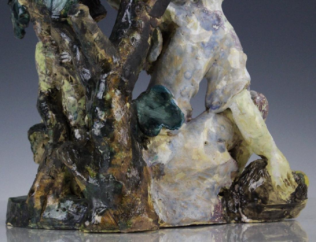 Susi Singer Terracotta Signed Sculpture Adam & Eve - 6