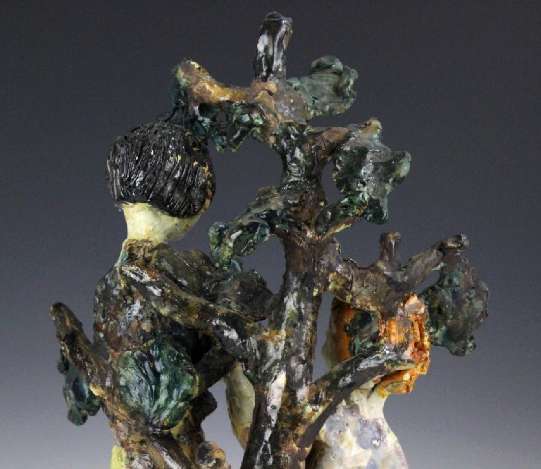 Susi Singer Terracotta Signed Sculpture Adam & Eve - 7