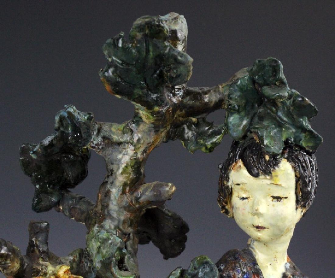 Susi Singer Terracotta Signed Sculpture Adam & Eve - 8