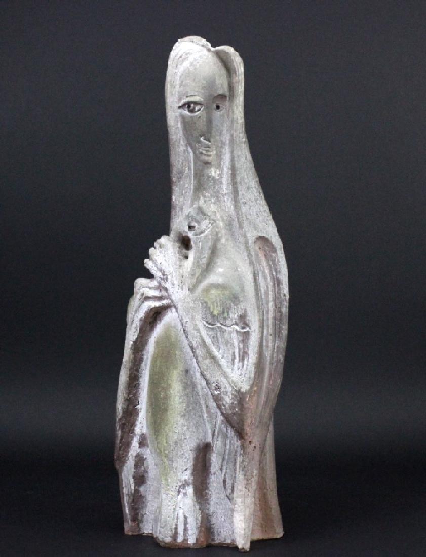 Edris Eckhart Unique Contemporary Clay Sculpture