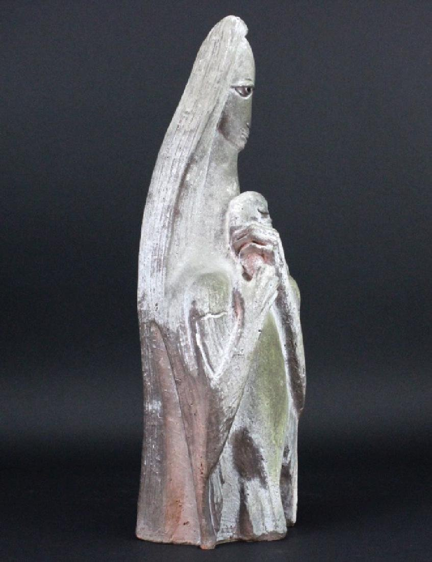 Edris Eckhart Unique Contemporary Clay Sculpture - 4