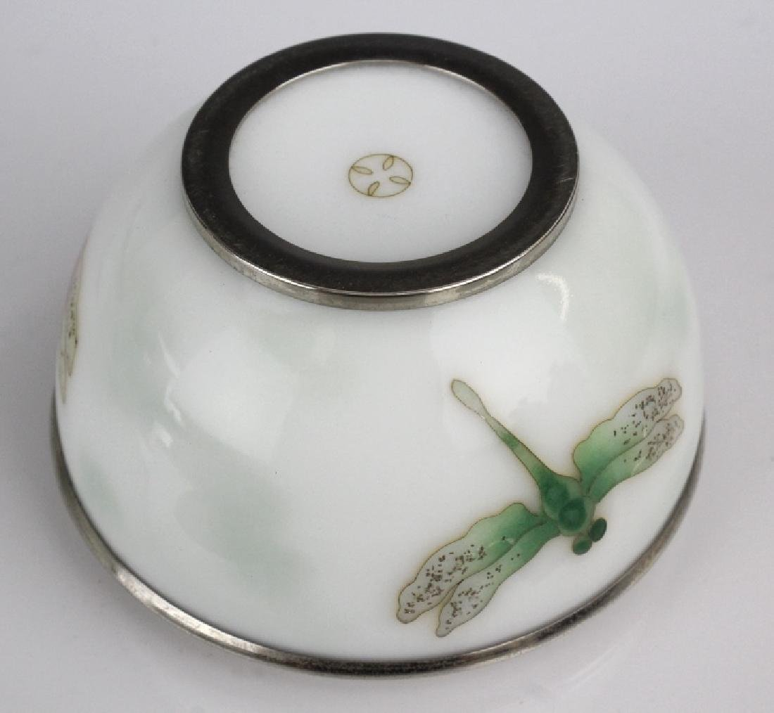 Pair Ando Jubei Cloisonne Enamel Dragonfly Box - 6
