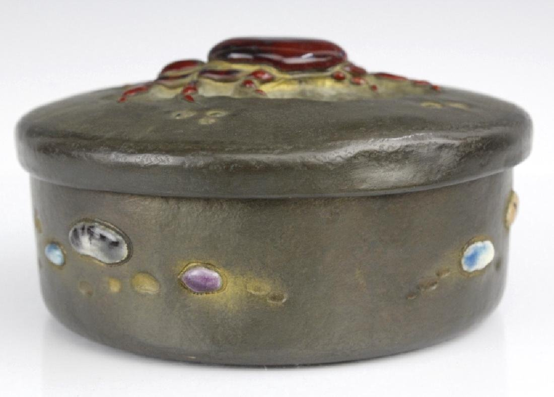 Ando Jubei Fine Copper Enamel Crab Jewelry Box - 3