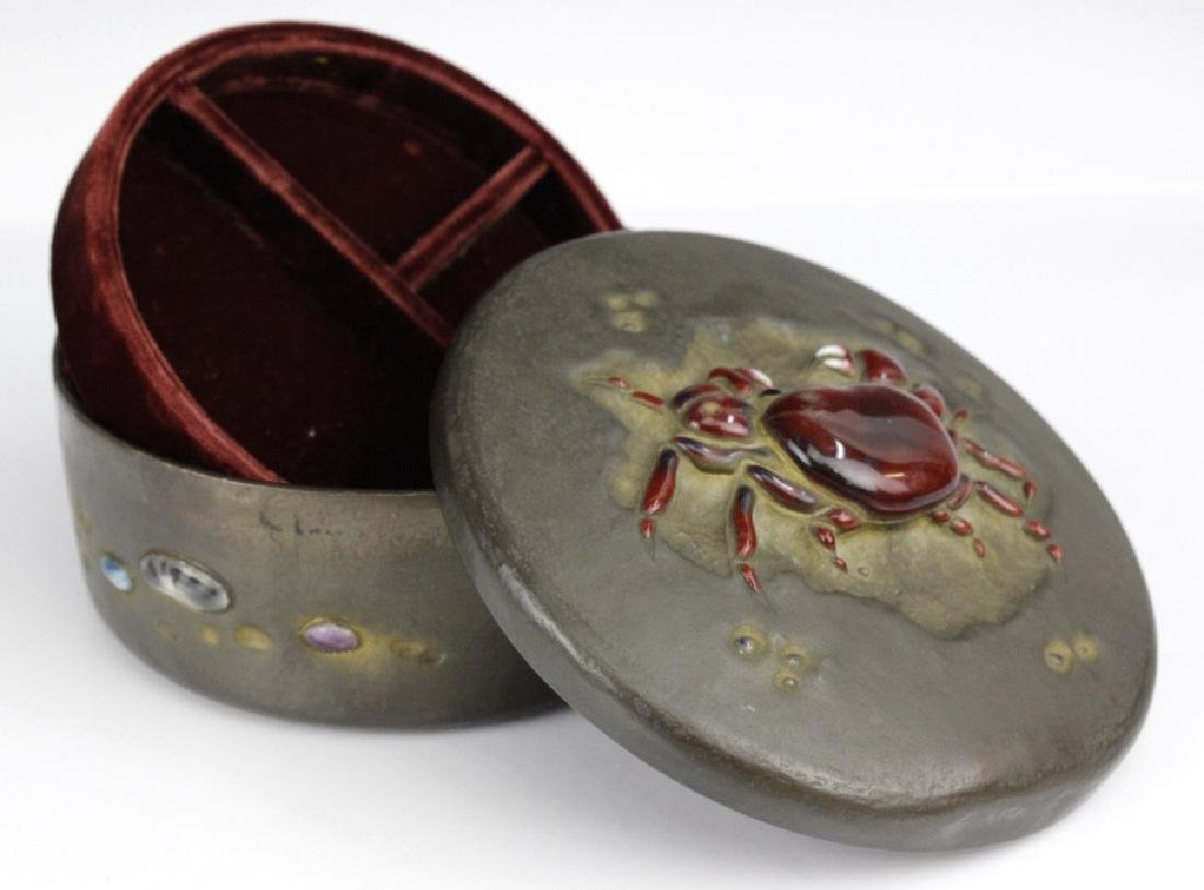 Ando Jubei Fine Copper Enamel Crab Jewelry Box - 4