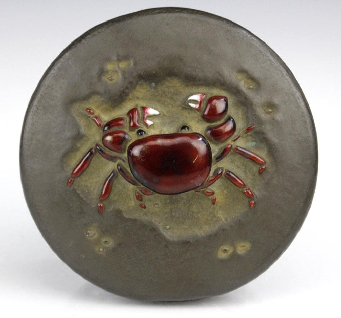 Ando Jubei Fine Copper Enamel Crab Jewelry Box - 5
