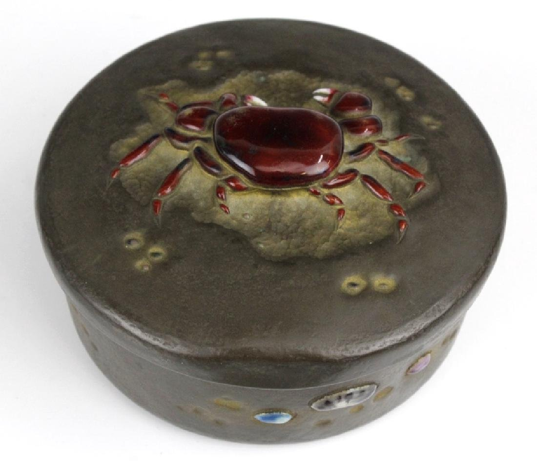 Ando Jubei Fine Copper Enamel Crab Jewelry Box - 6