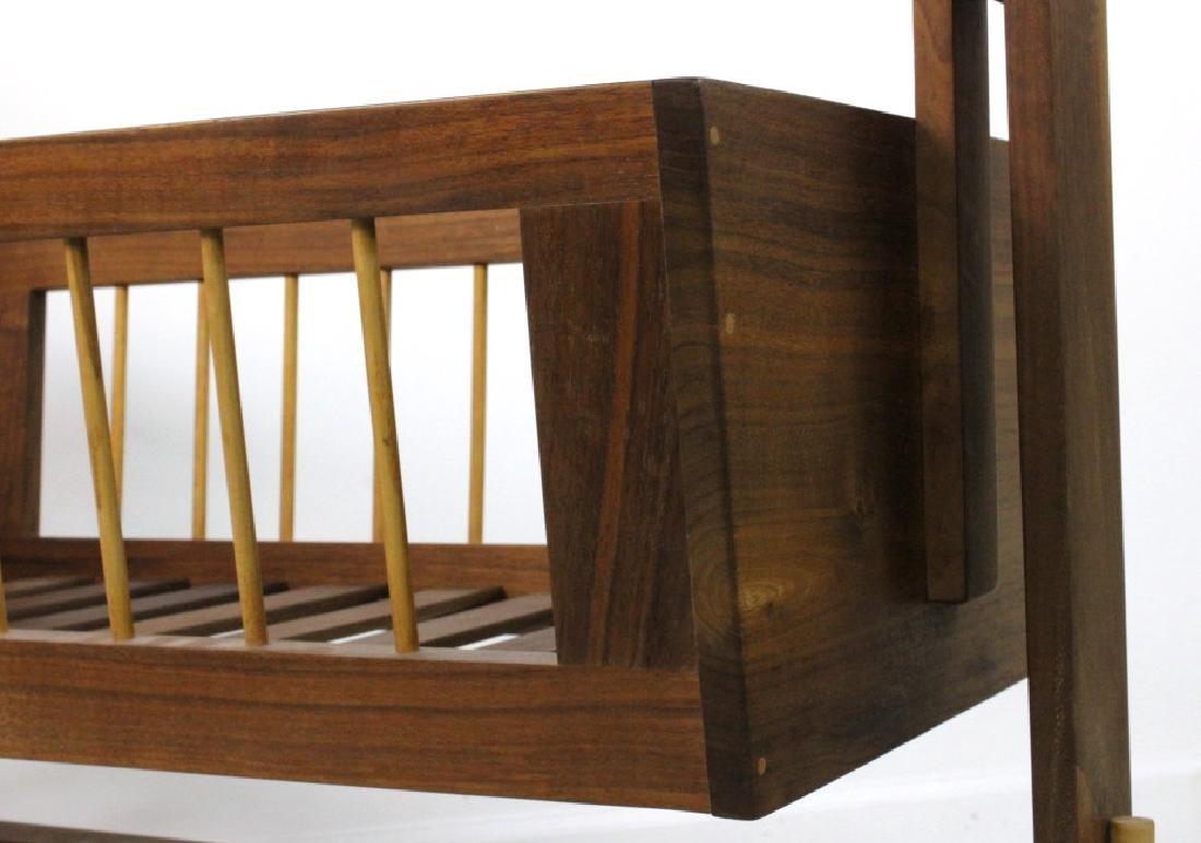Mid Century Modern Walnut Suspended Baby Cradle MCM - 5
