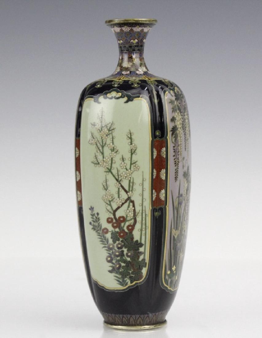 Diminutive Cloisonne Enamel Floral Bud Vase - 4
