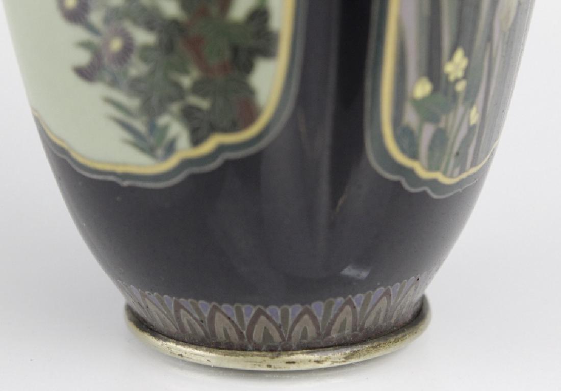 Diminutive Cloisonne Enamel Floral Bud Vase - 5