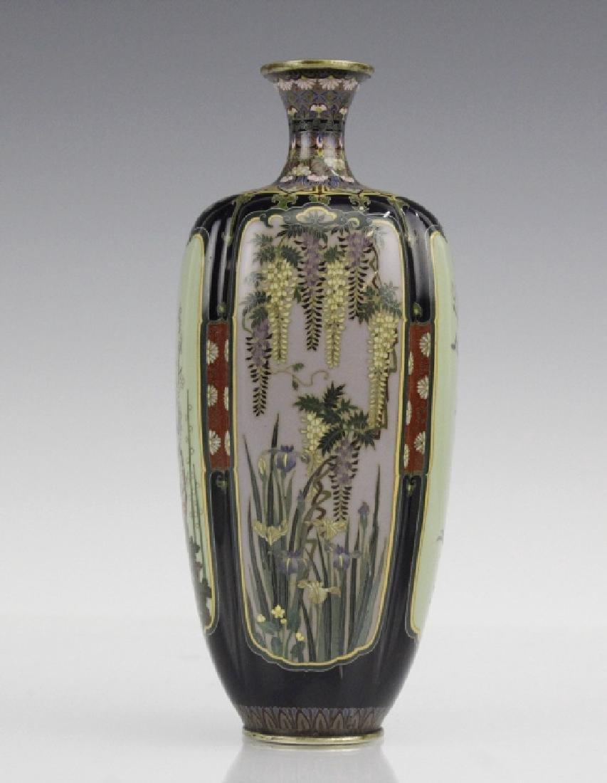Diminutive Cloisonne Enamel Floral Bud Vase - 9