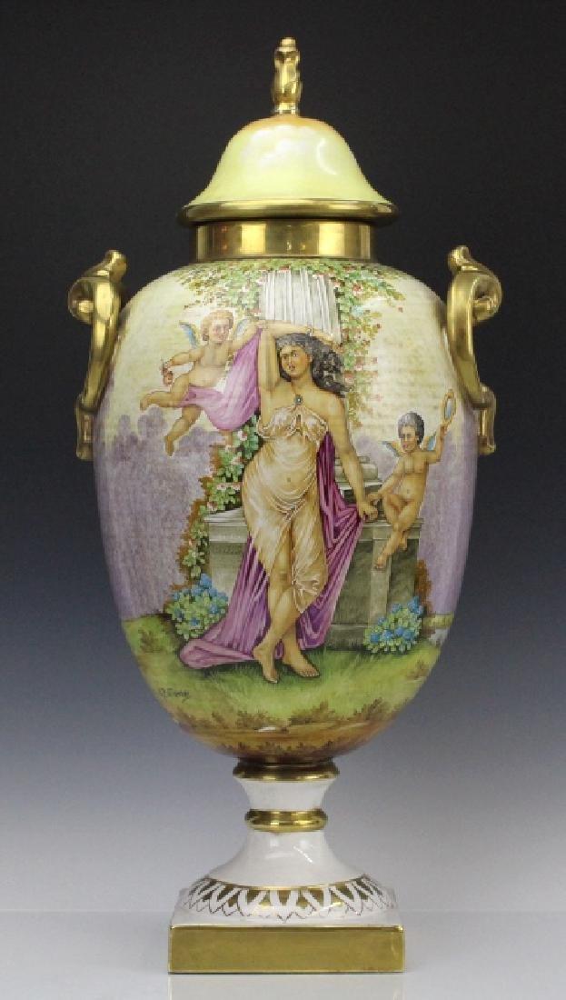 Signed Leonardo Batignani Italian Porcelain Urn Vase