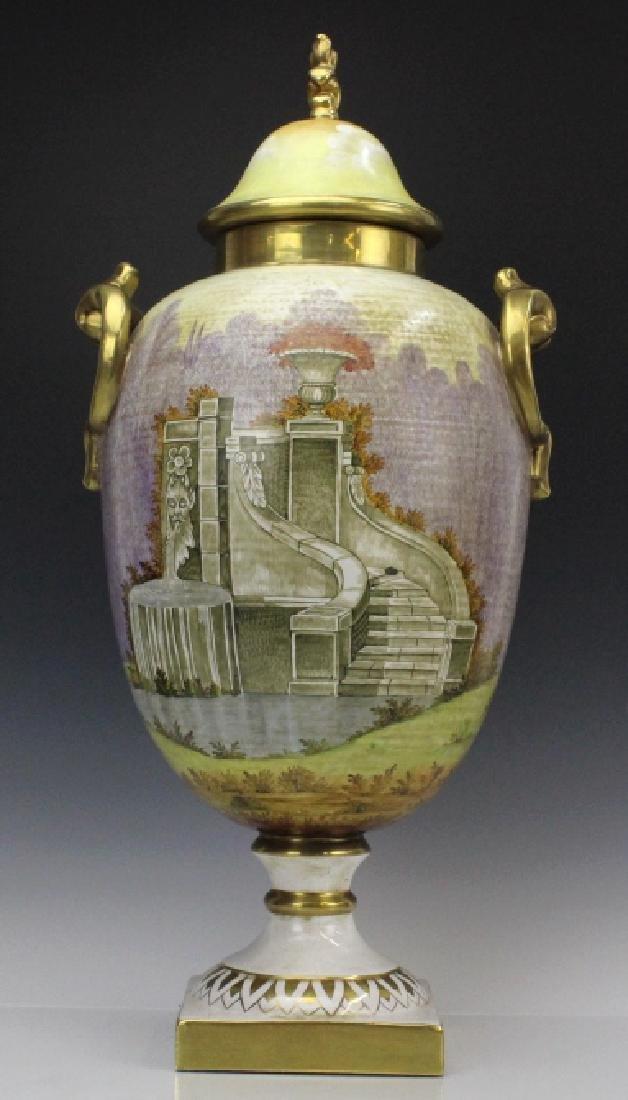 Signed Leonardo Batignani Italian Porcelain Urn Vase - 5