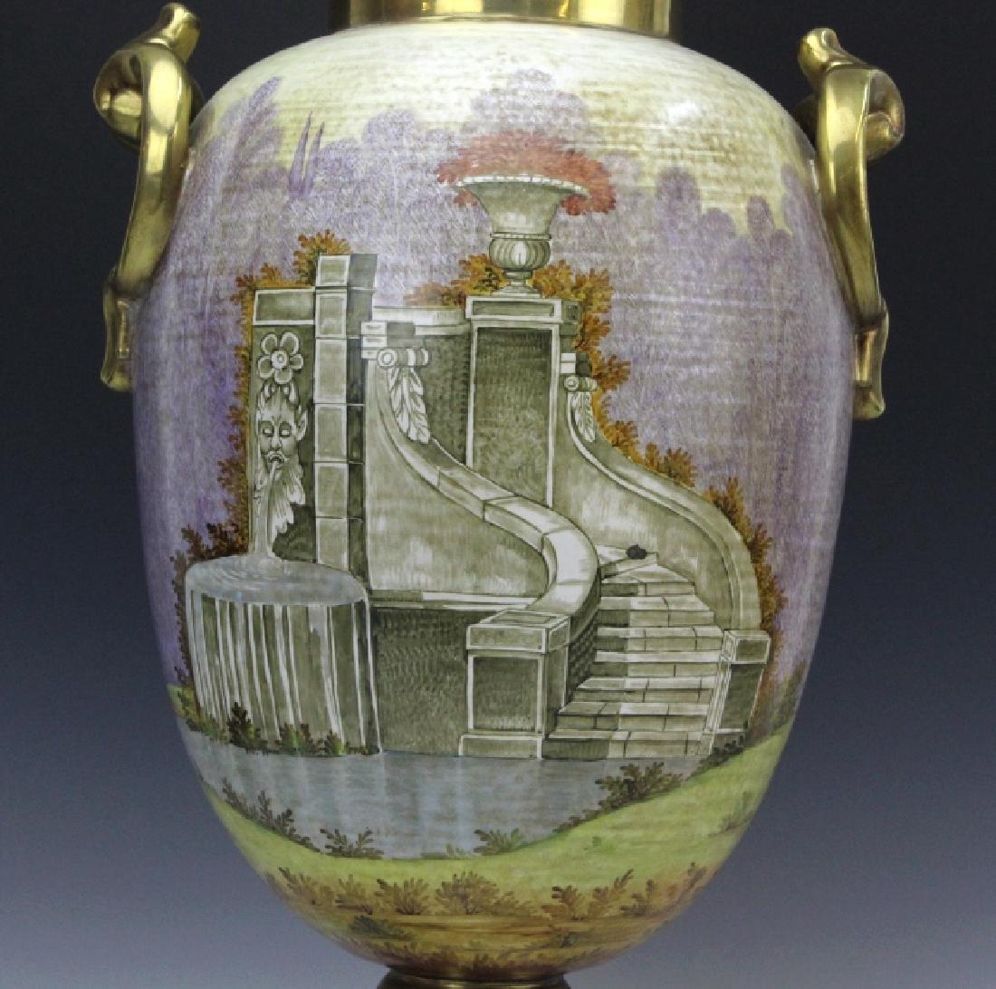 Signed Leonardo Batignani Italian Porcelain Urn Vase - 6