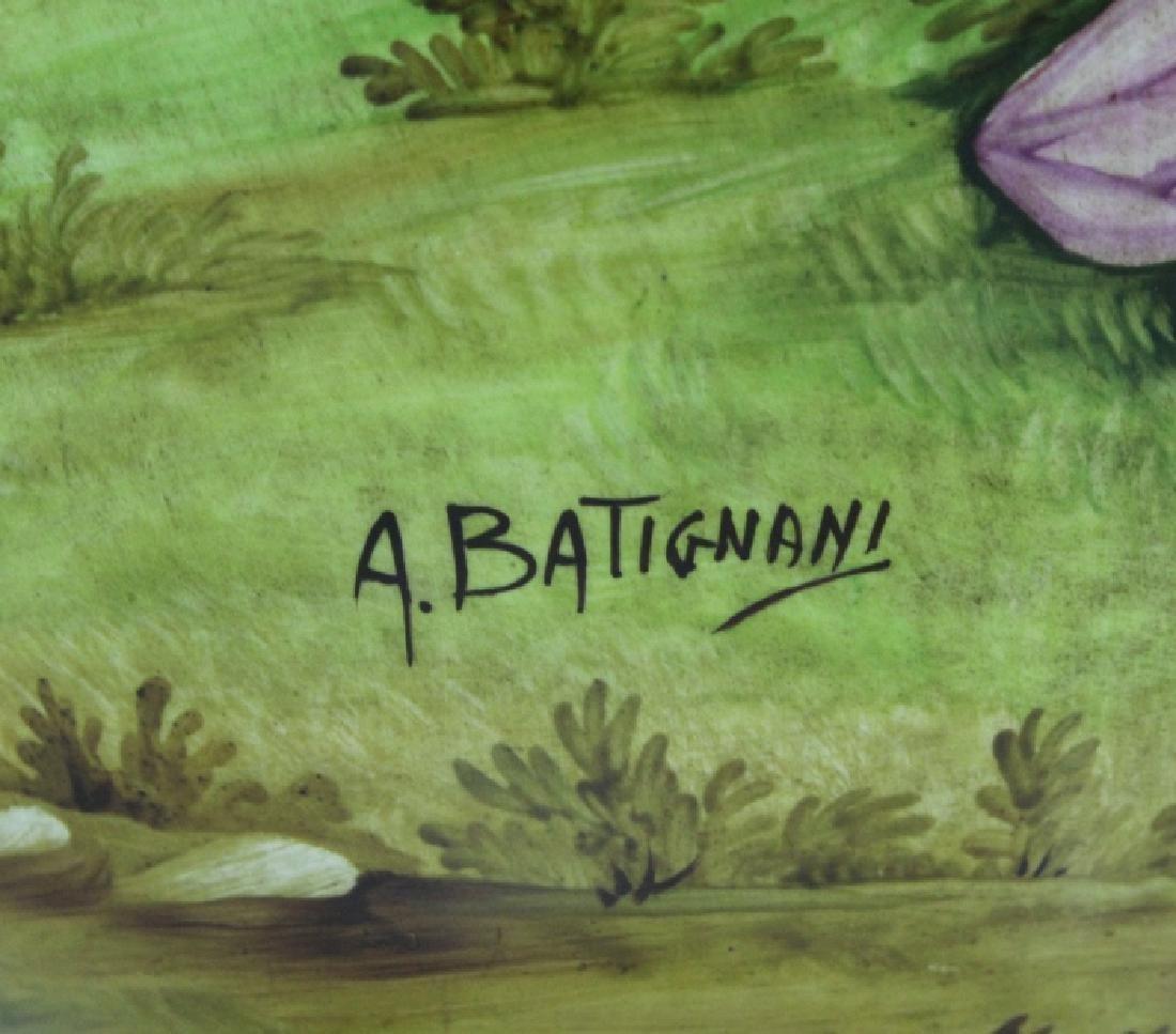 Signed Leonardo Batignani Italian Porcelain Urn Vase - 7