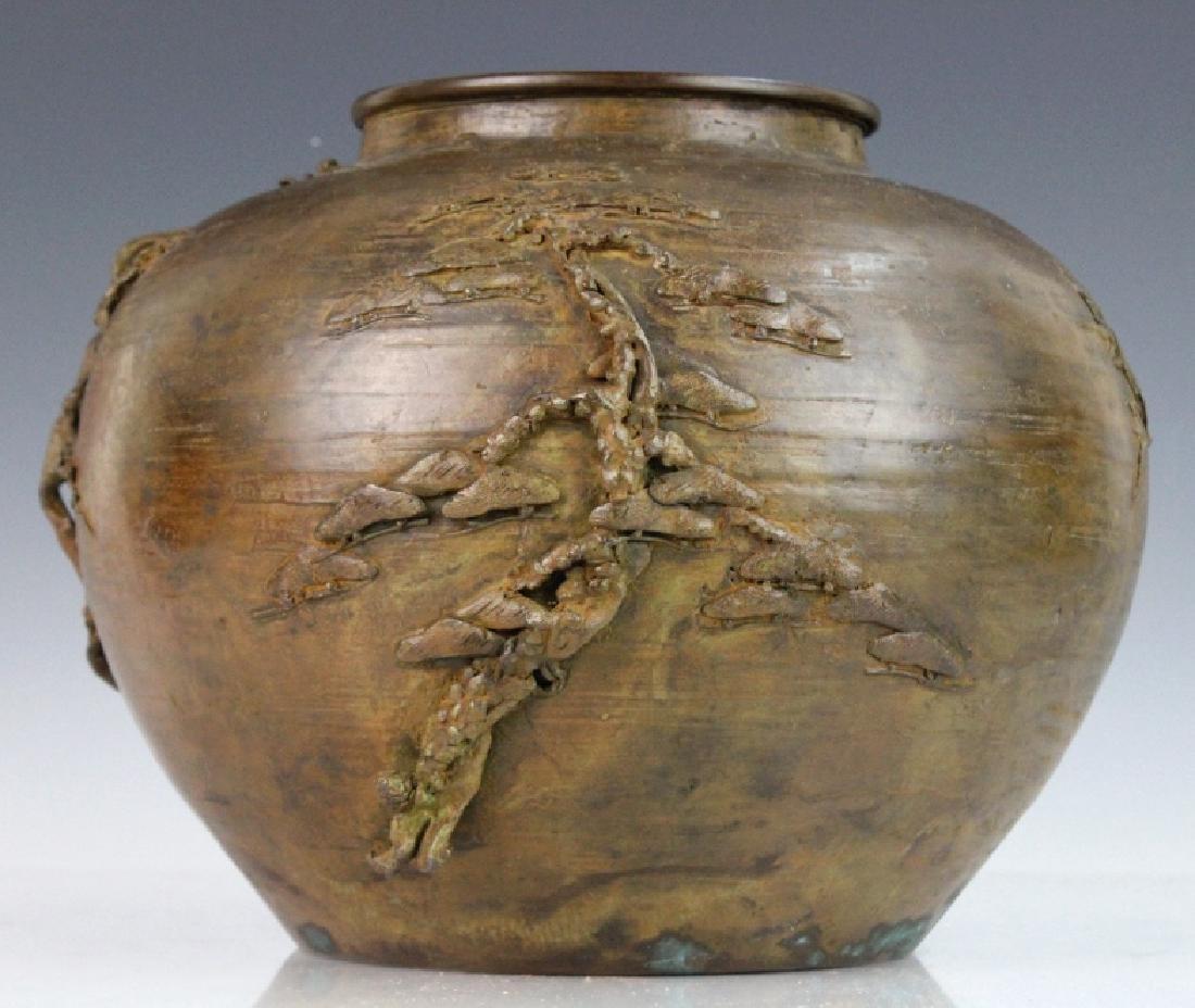 Japanese Circa 1930 Craftsman Bronze Jardiniere