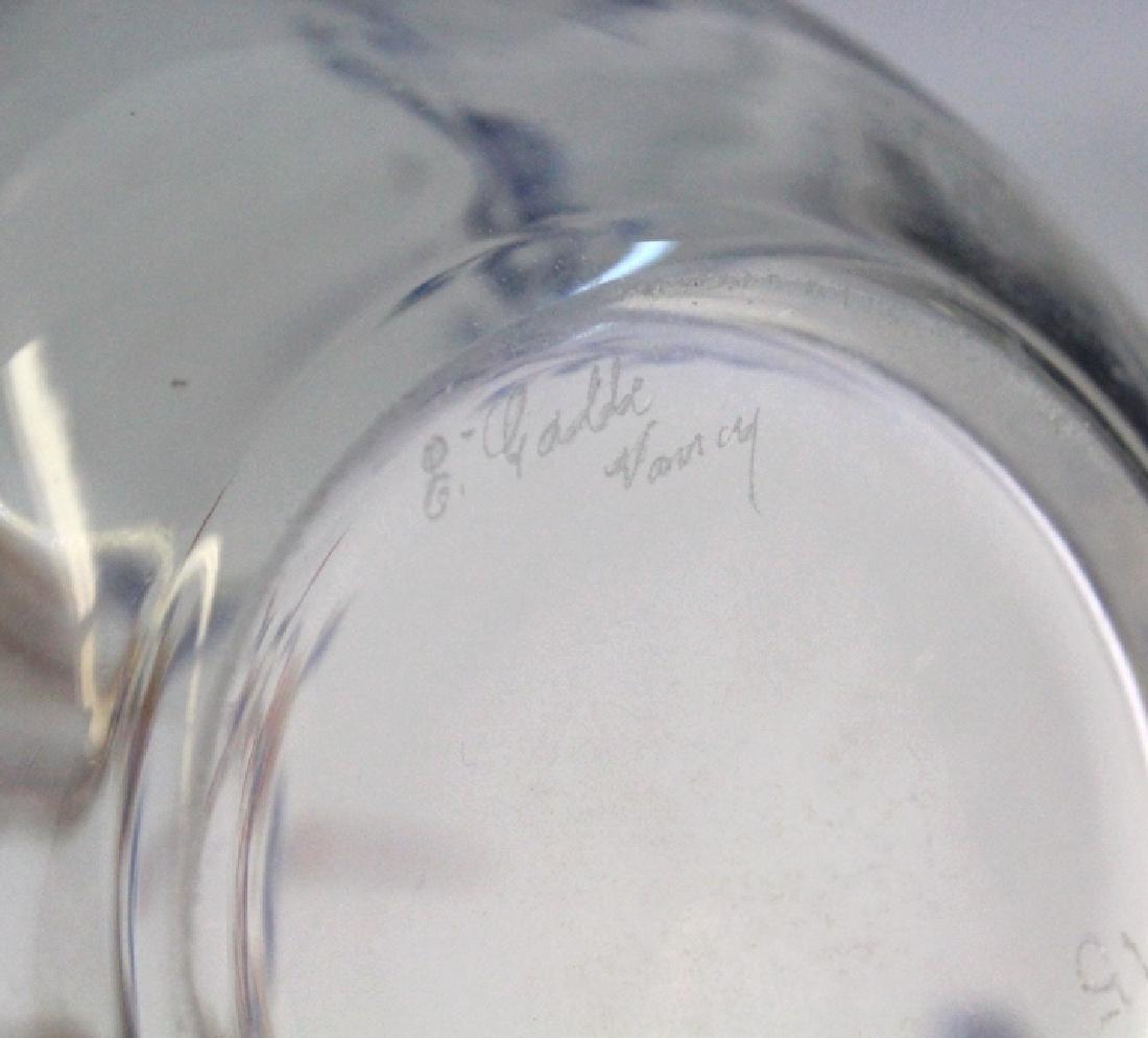 """Galle French Art Glass Enameled Figure 4"""" Vase - 9"""