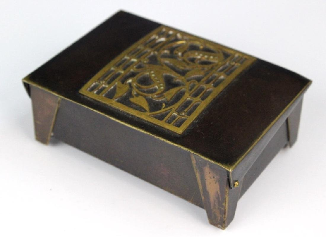 German Jungendstil Bronze Brass Inlaid Stamp Box - 4