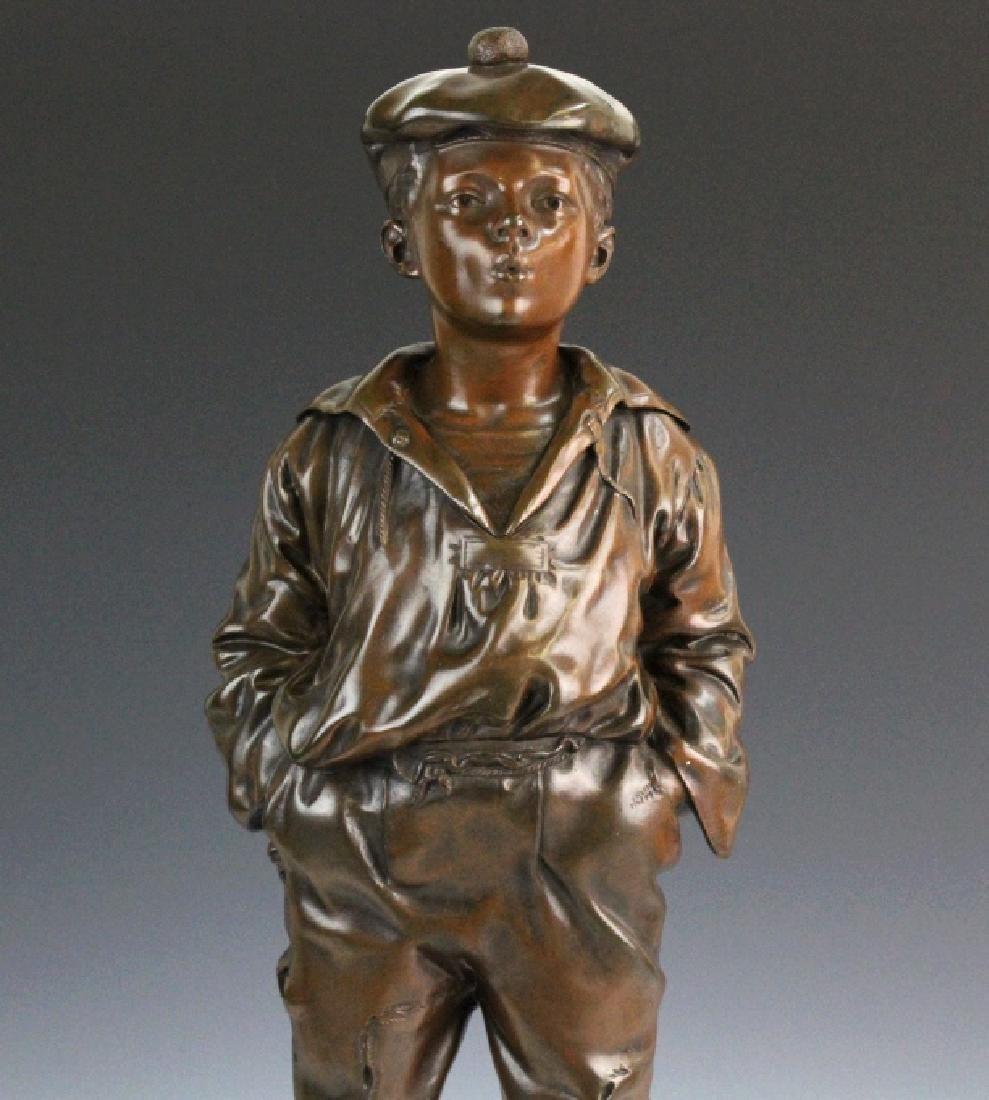 After V. Szczeblewski Whistling Boy Bronze Statue - 3