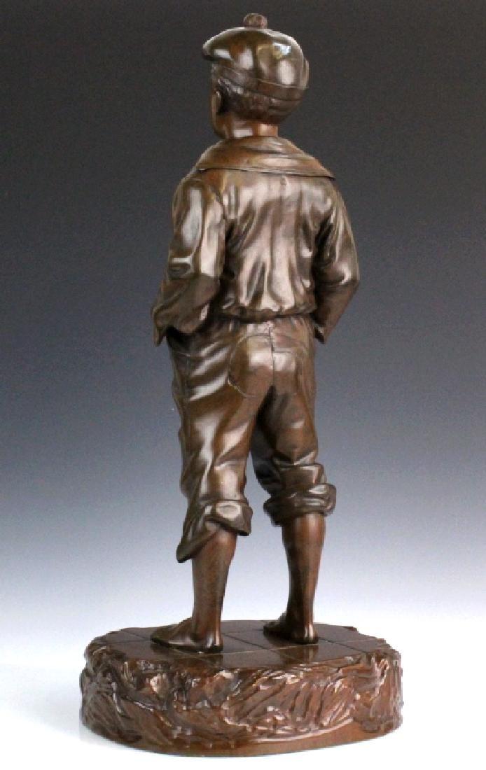 After V. Szczeblewski Whistling Boy Bronze Statue - 4