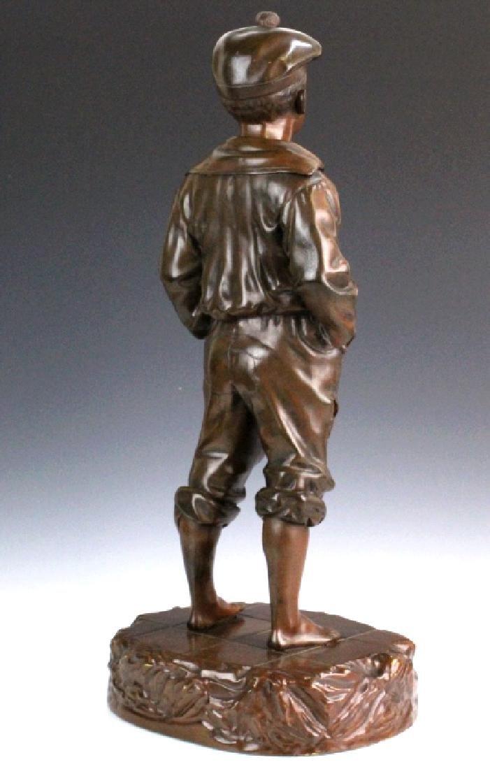 After V. Szczeblewski Whistling Boy Bronze Statue - 5