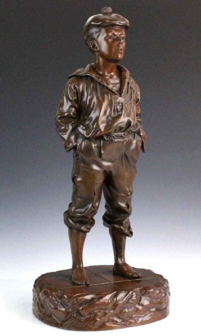 After V. Szczeblewski Whistling Boy Bronze Statue - 6