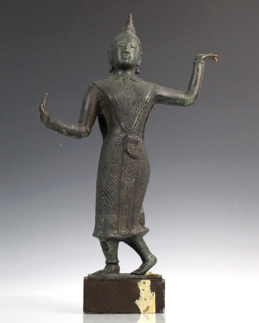 Southeast Asian Thai Dancer Bronze Statue