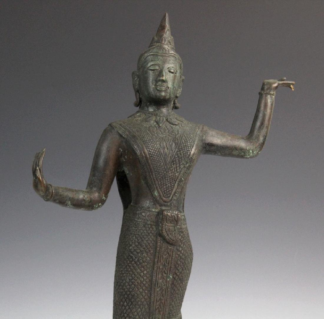 Southeast Asian Thai Dancer Bronze Statue - 2
