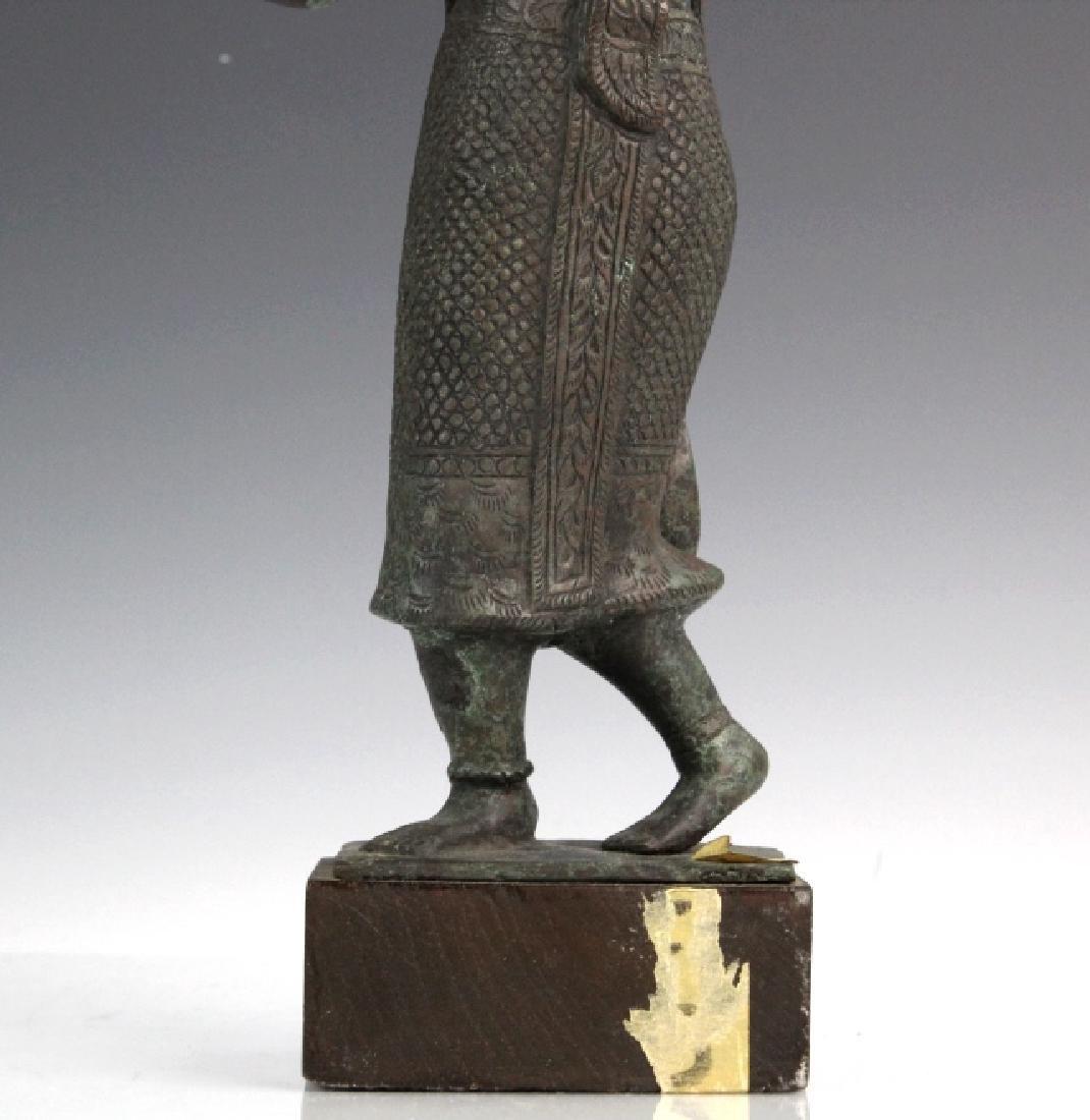 Southeast Asian Thai Dancer Bronze Statue - 3
