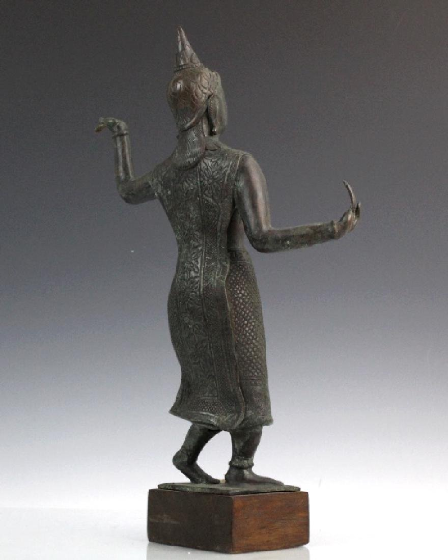 Southeast Asian Thai Dancer Bronze Statue - 5