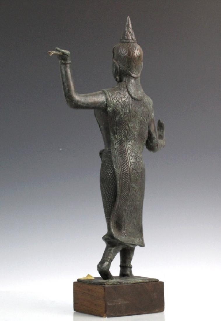 Southeast Asian Thai Dancer Bronze Statue - 6