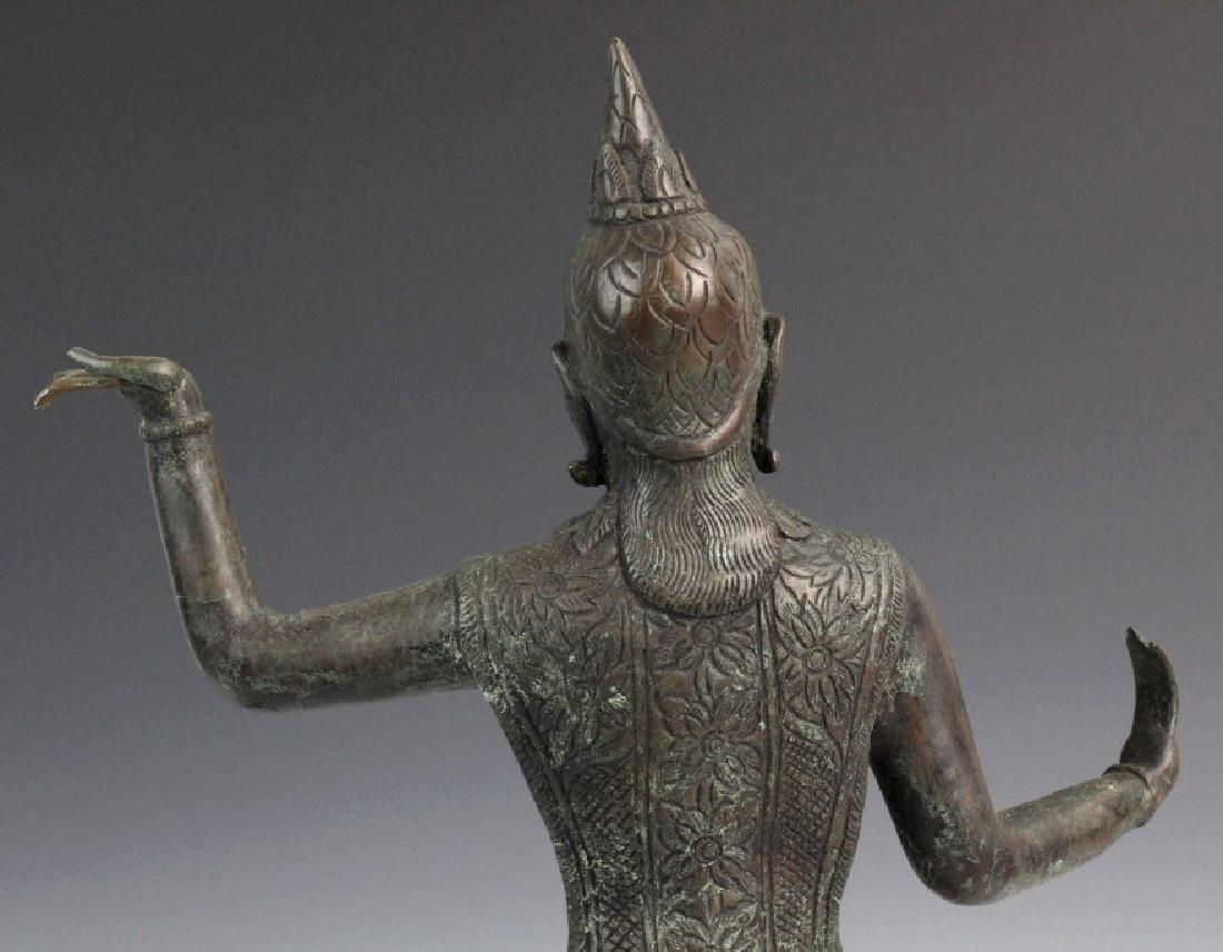 Southeast Asian Thai Dancer Bronze Statue - 7