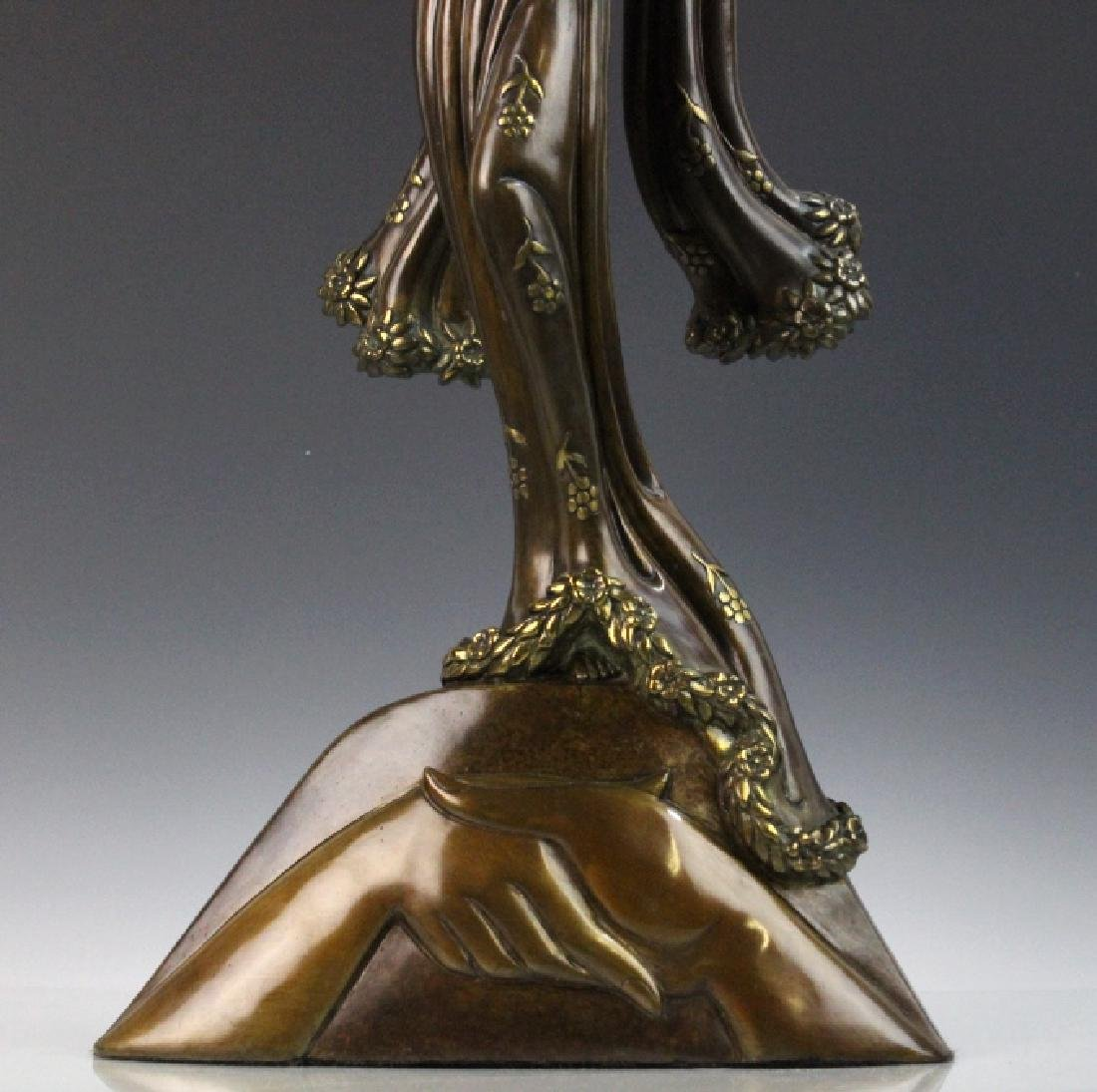 Signed Erte Patinated Cast Bronze Sculpture Peace 1984 - 3