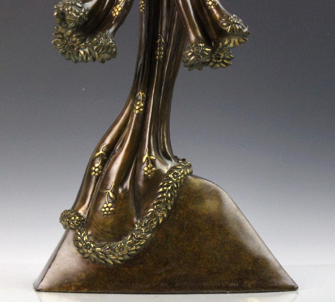 Signed Erte Patinated Cast Bronze Sculpture Peace 1984 - 7