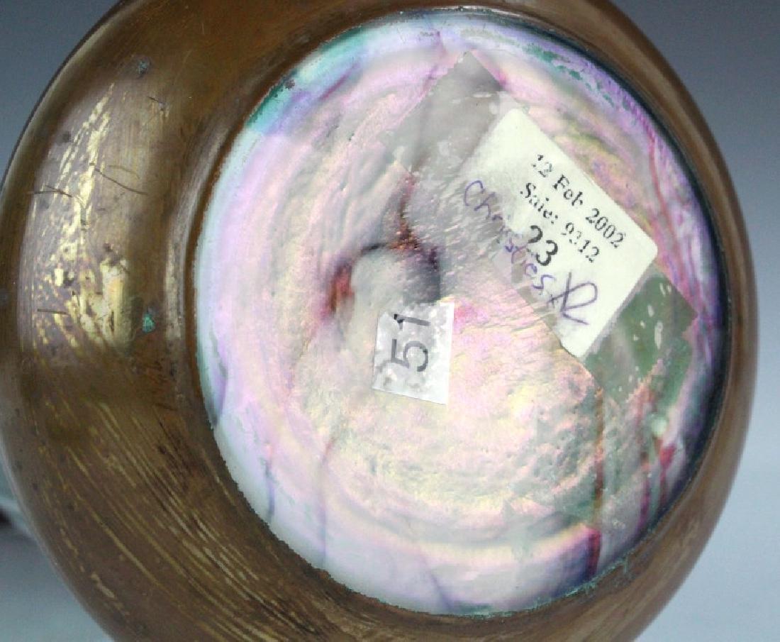 Style Of Koloman Moser Art Glass Copper Vase - 10