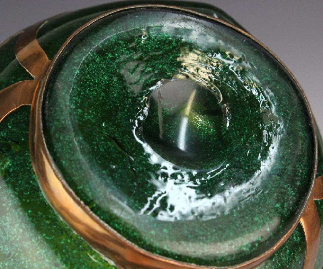 Austrian Secession Art Nouveau Copper & Glass Vase - 10