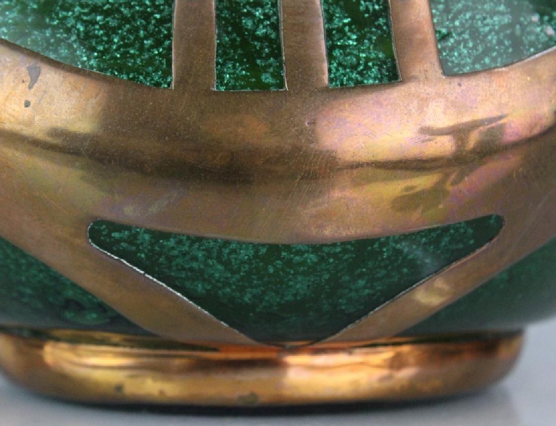 Austrian Secession Art Nouveau Copper & Glass Vase - 8