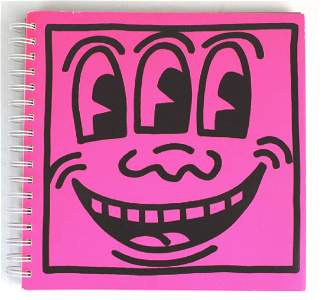 Keith Haring Book w/ Original Drawing from BASS MUSEUM