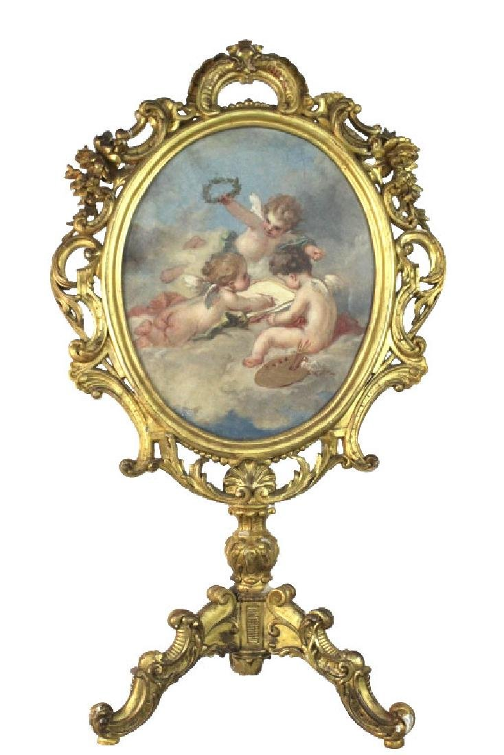 Oval Screen Painting Francois Boucher from BASS MUSEUM