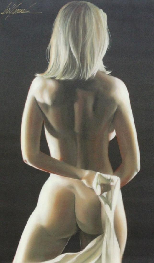 Bill Mack Signed Figural Female Nude Giclee Painting