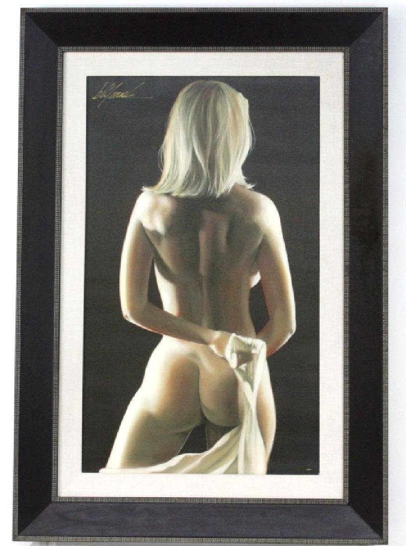 Bill Mack Signed Figural Female Nude Giclee Painting - 2