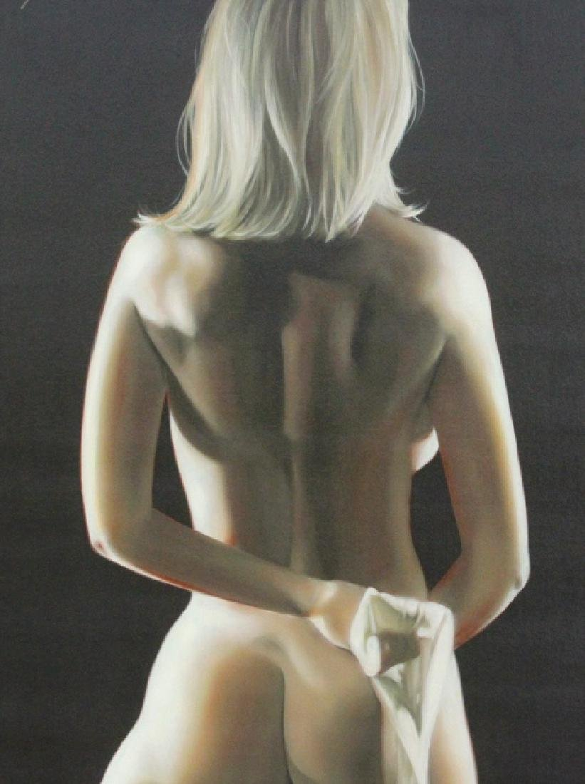 Bill Mack Signed Figural Female Nude Giclee Painting - 5