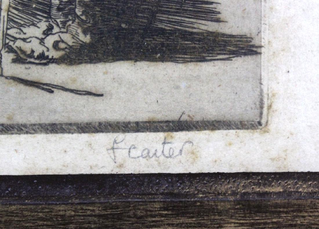 Signed F. Carter Will o' th' Wisp Etching BASS MUSEUM - 4