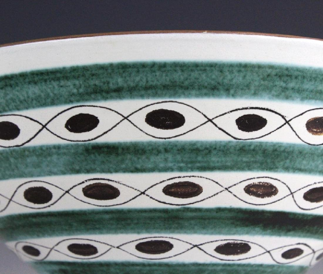 Gustavsberg Abstract Mid Century Hand Painted Bowl - 2
