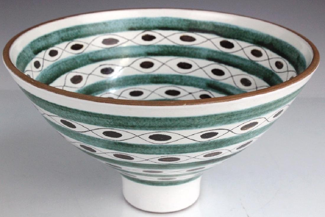 Gustavsberg Abstract Mid Century Hand Painted Bowl - 4