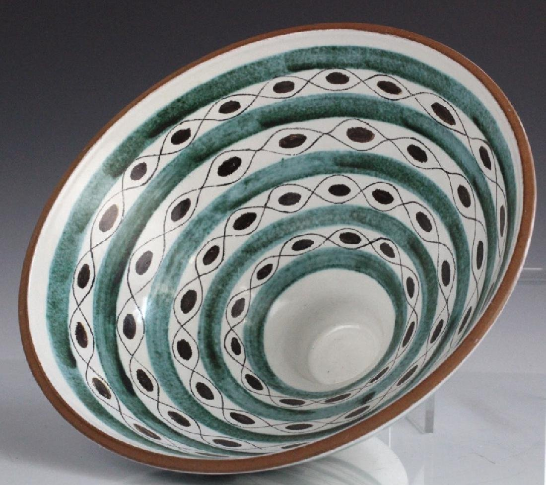 Gustavsberg Abstract Mid Century Hand Painted Bowl - 5