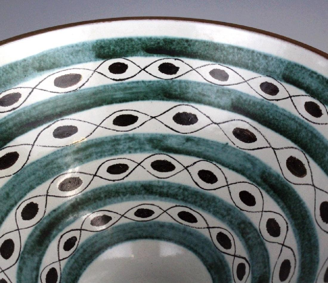 Gustavsberg Abstract Mid Century Hand Painted Bowl - 7