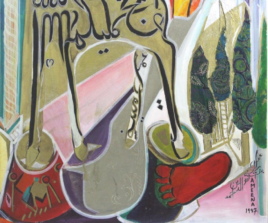 Ameena Ahmad Ahuja Signed Painting from BASS MUSEUM - 3